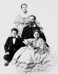 Vittorio Emanuele和Rosa Teresa Vercellana一家人