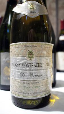 """Domaine Marc Jomain Puligny Montrachet Premier Cru """"Les Perrieres"""" 1999"""