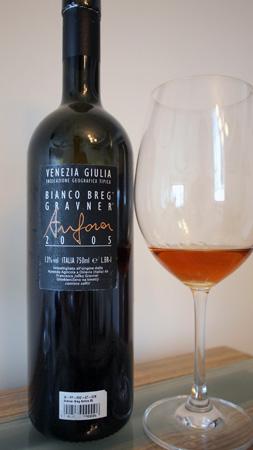 Gravner Bianco Breg Anfora 2005 Back Label