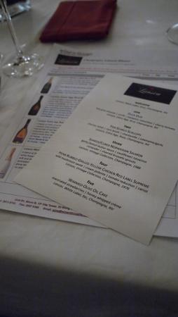當晚的menu