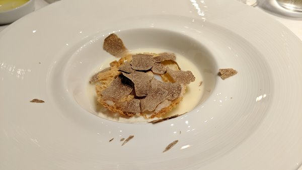 Free range egg, mozzarella cream and white truffle